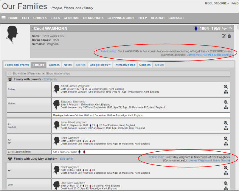 Kiwitrees version 3.2.3 - changes - relations family